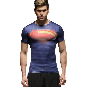 Cody Lundin Sport - T-shirt compression manches courtes homme - Superman