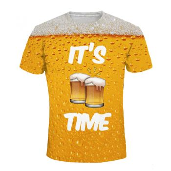 T-shirt compression manches courtes pour homme - It's Beer time