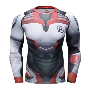 Cody Lundin - T-shirt compression MMA manches longues pour homme - Avengers Endgame