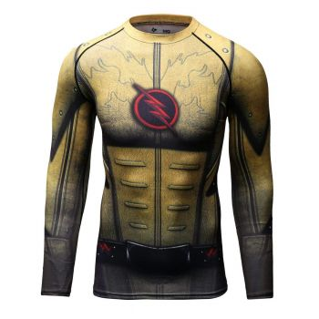 Cody Lundin - T-shirt compression MMA manches longues pour homme - Flash Reverse