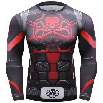 Cody Lundin - T-shirt compression MMA manches longues pour homme - Hydra