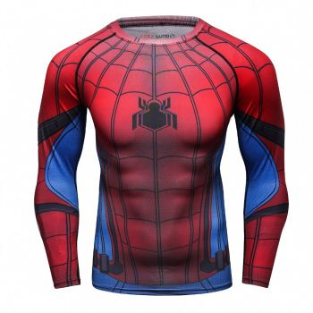 Cody Lundin - T-shirt compression MMA manches longues pour homme - Spider-Man Homecoming