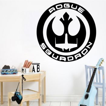 Sticker mural Star Wars Rogue Squadron - 3 tailles - 9 coloris